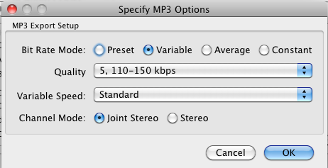 How to make LAME MP3s with Audacity