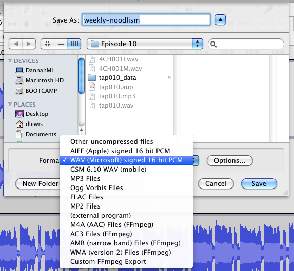Audacity and iTunes—Making Not-LAME MP3s