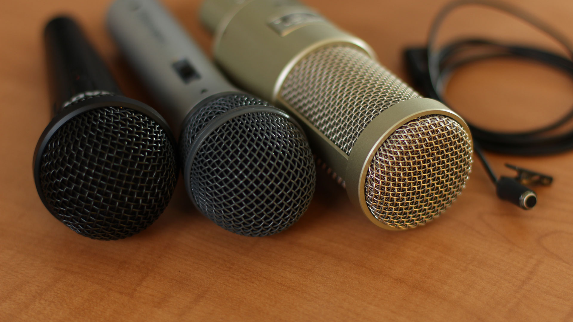 Podcast mic comparisons for audio and video