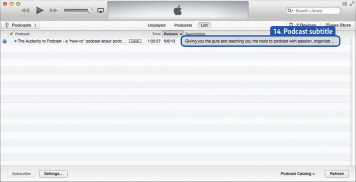 How to change your podcast information in iTunes